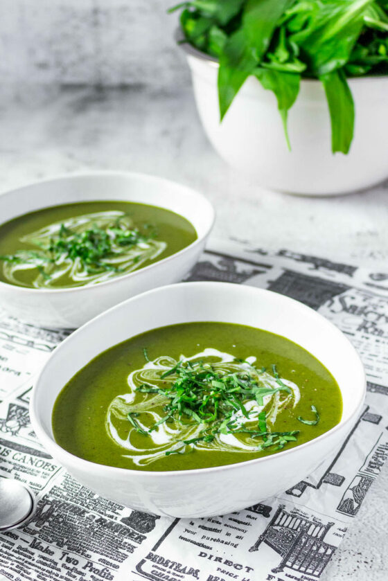 Creamy Wild Garlic Potato Soup