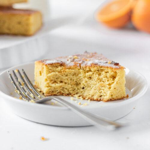 Grain Free Orange Cake Bars