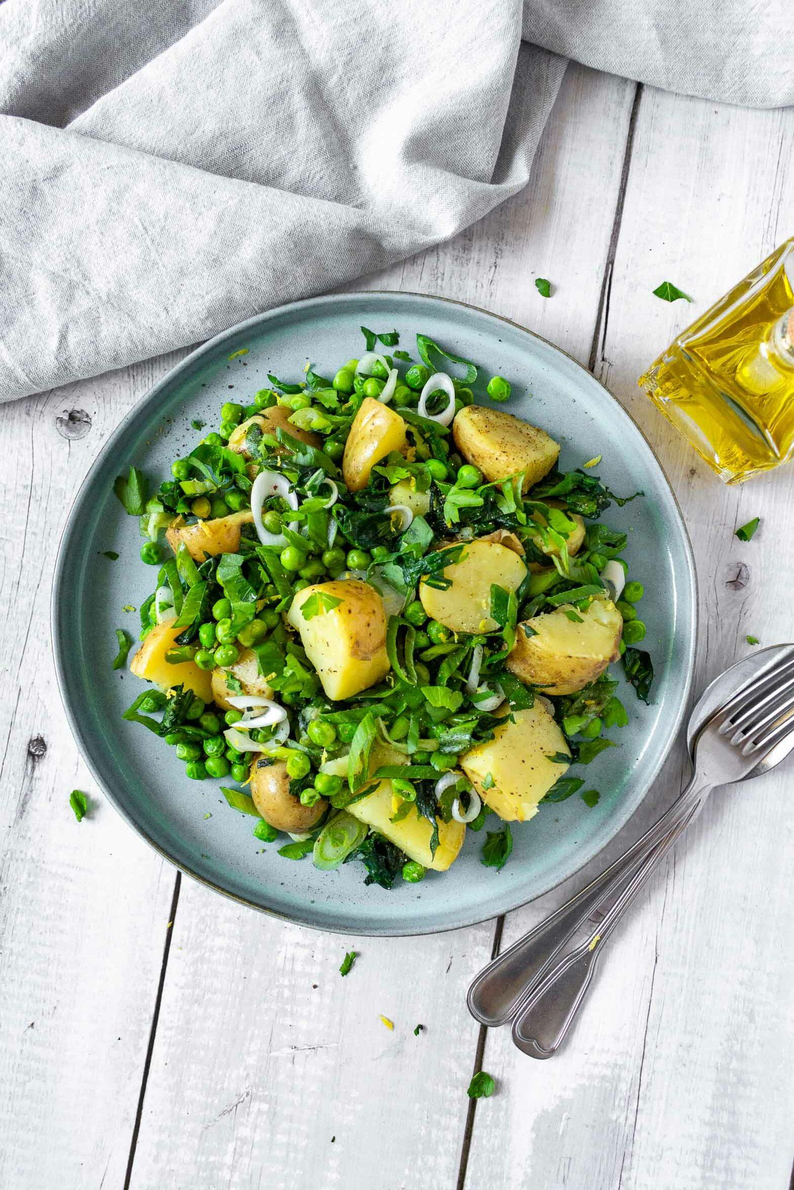 New Potatoes, Wild Garlic and Spring Greens Recipe