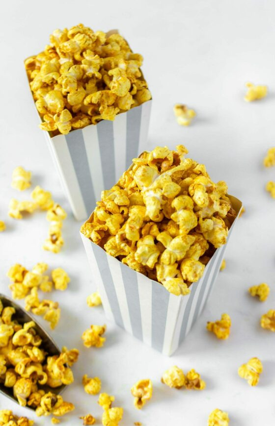 Spicy Curry Turmeric Popcorn