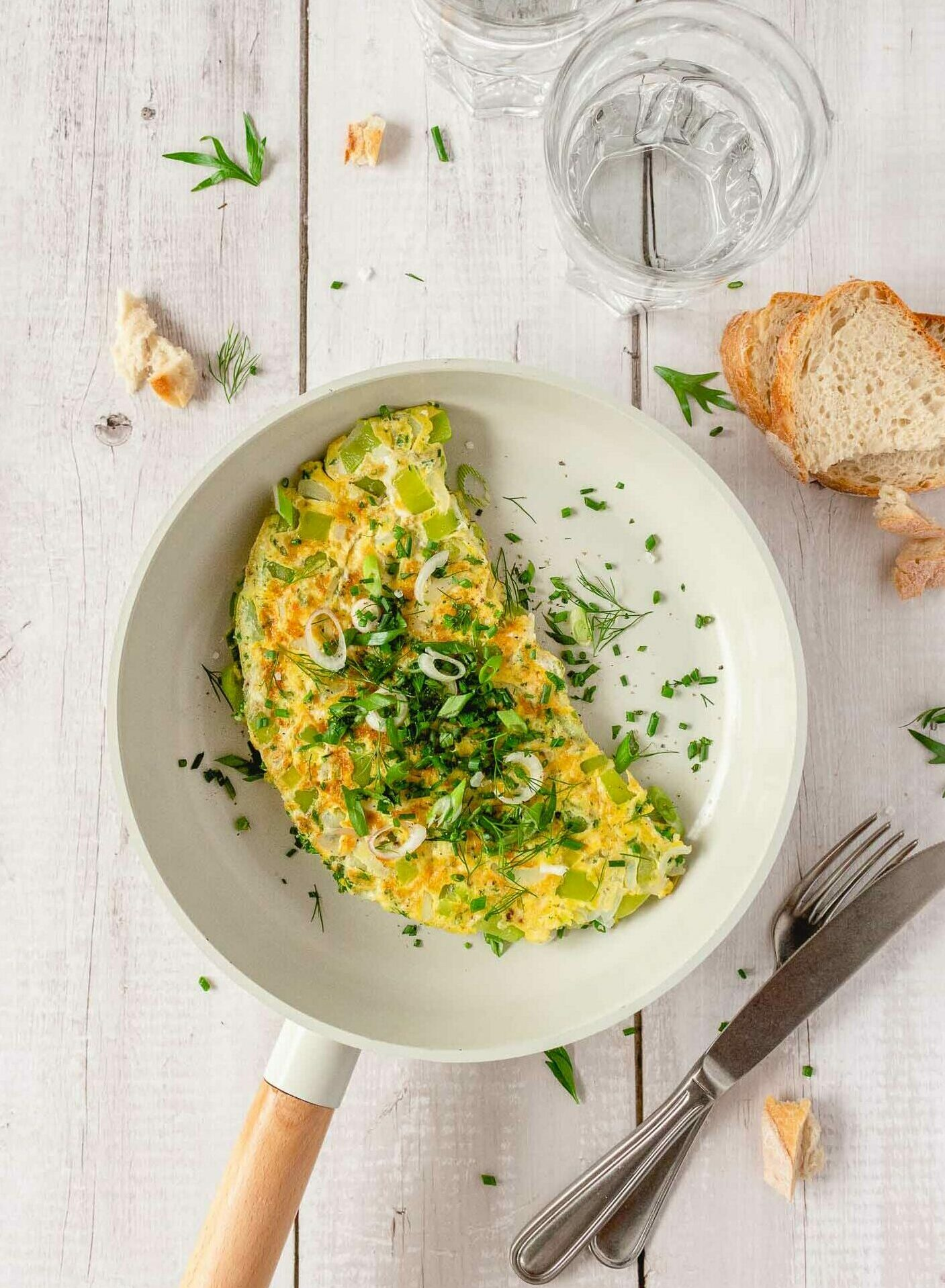 Spicy Herb And Greens Omelette