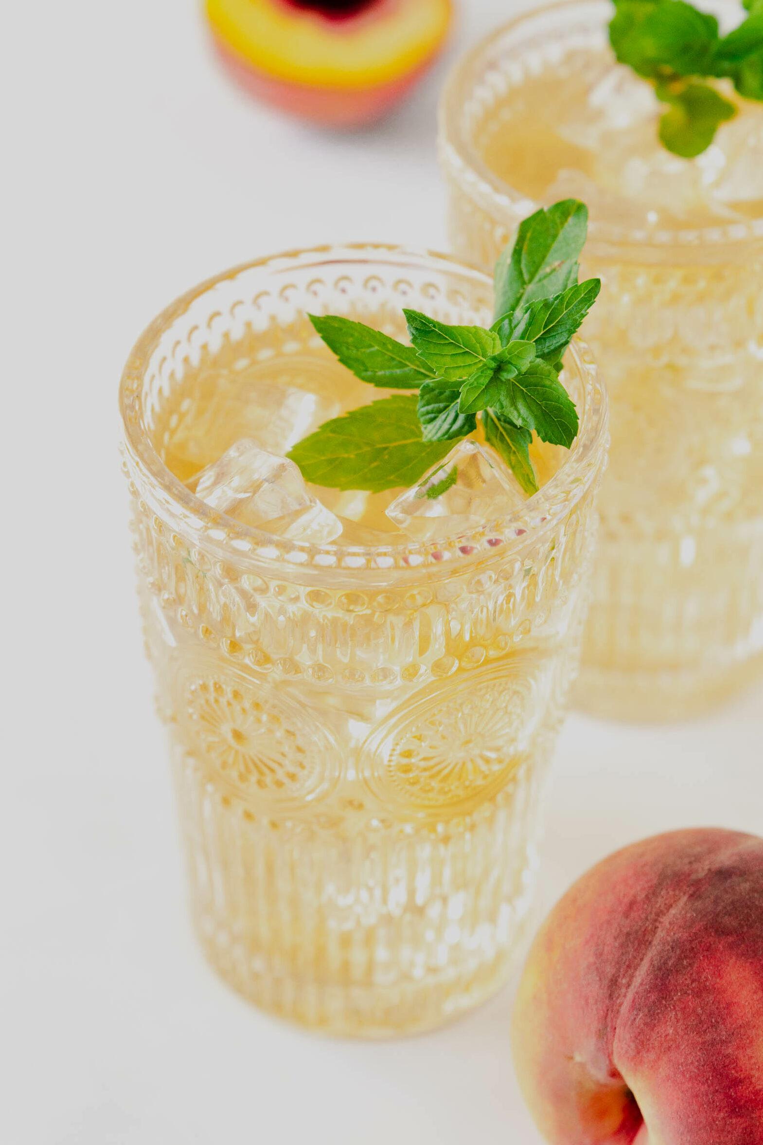 Peachy Jasmine Iced Tea