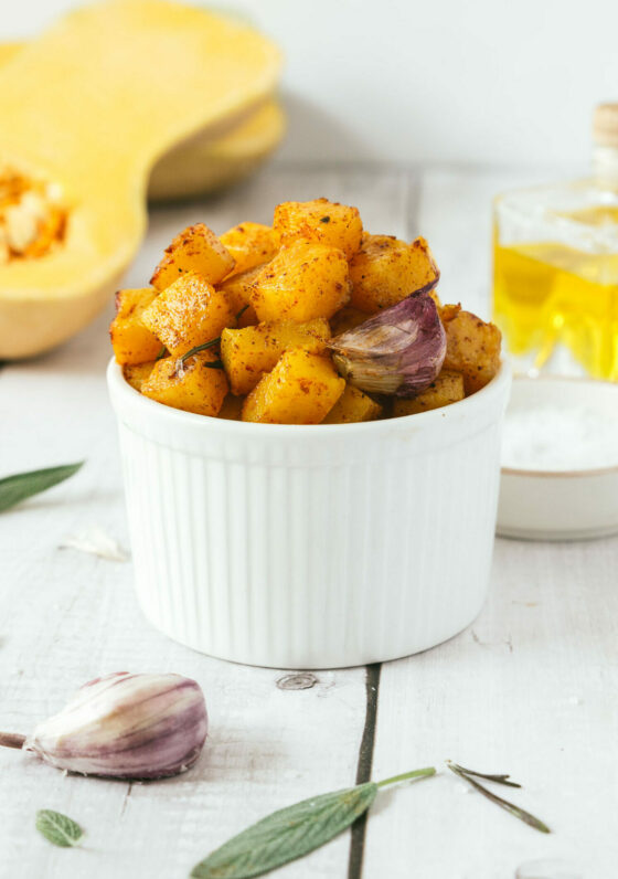 Quick Herb Roasted Butternut Squash